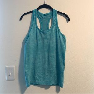 Lululemon Blue Swiftly work out tank